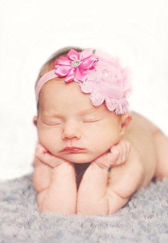 Cheveux Bows nouveau-né bandeau de ROEWELL® 9 Pcs bébé Bandeaux Girl (9 pièces)