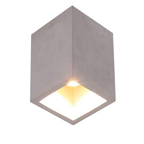 Lámpara de techo LED Downlight Cubo Luz de hormigón GU10 7w Moderna Lámpara de techo lámpara