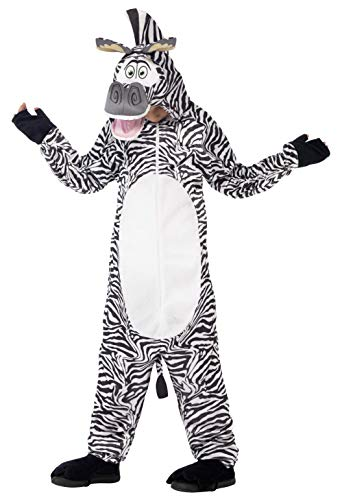 Smiffy's Children's Madagascar Marty The Zebra Costume, All-in-one -