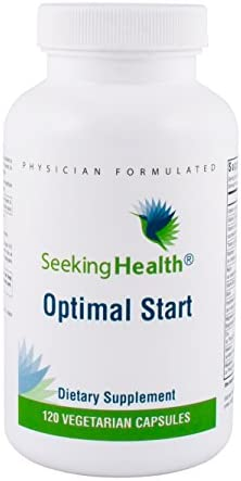 Seeking Health Optimal Start Daily Multivitamin Without B12, Iron, Calcium or Folate Adaptogenic Herbs