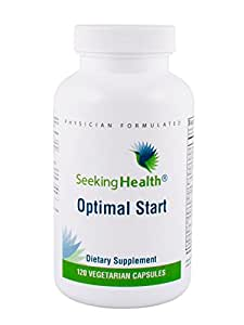 Optimal Start | A Unique Multivitamin Free of Copper, Iron, Calcium, B12 and Folate with Supportive Adaptogenic Herbs | Non-GMO | Free of Magnesium Stearate | Physician Formulated | Seeking Health