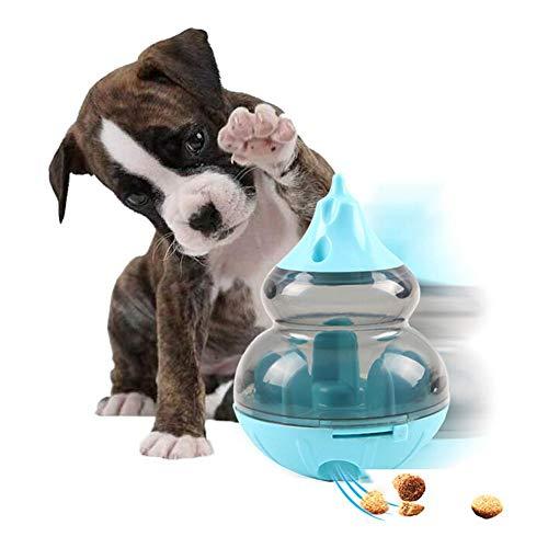 Jingolden Pet Food Dispenser Tumbler Feeders Puzzle Toy Dog Gourd Type Food Dispensing Device