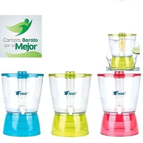 Thulos DISPENSADOR DE LIQUIDOS 6,5 litros Agua INFUSIONES Fruta Desmontable Calidad: Amazon.es: Hogar