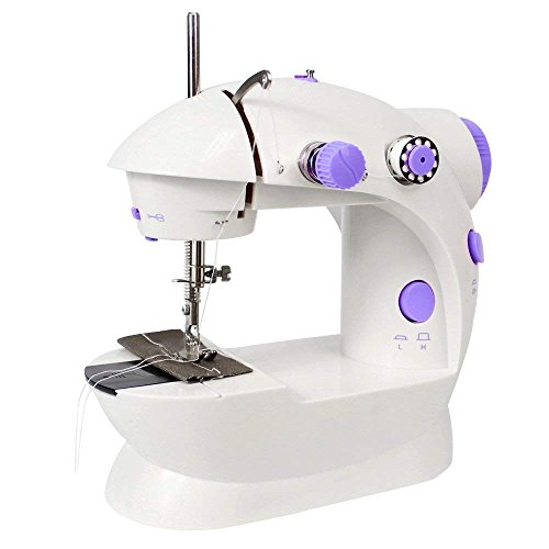 LIANTRAL Sewing Machine, Mini Portable Electric Crafting Mending Machine with Low/High Speed, Double Thread, Foot Pedal, Perfect for Household and Beginner by LIANTRAL
