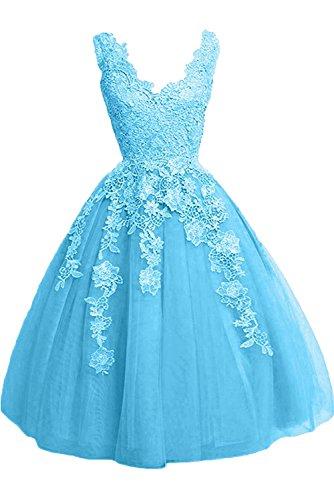 Rock Abendkleider Ballkleider Prinzess La Festlichkleider Blau Promkleider Linie mia Damen A Lemon Spitze Braut Gruen xxRwfZUq