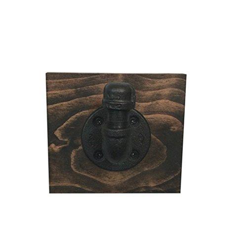 Industrial Hook, Rustic Bathroom décor, Black Iron Pipe, towel or robe hook, wall hanging, industrial décor, bathroom décor home