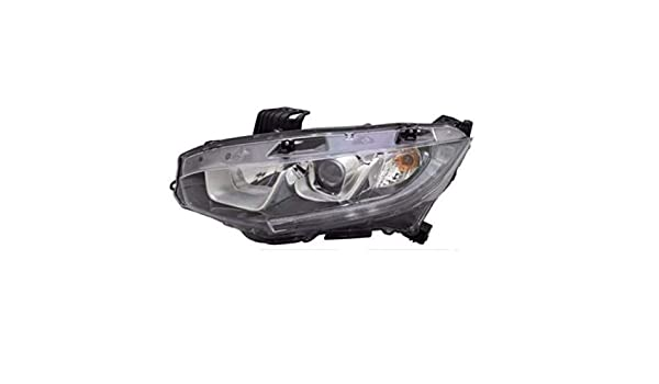 TYC NSF Left Side Fog Light Assembly for Honda Civic 2 Door Coupe 2014-2015