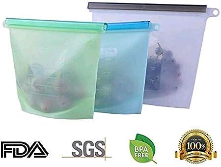Bolsas de comida reutilizables, bolsas de silicona IDEAPRO, bolsas ...