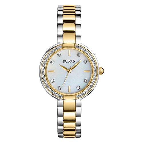 Bulova Women's 98R172XG Diamonds Quartz Two Tone Bracelet Watch (Certified (2 Tone Quartz Bracelet)
