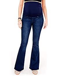 Women's Maternity Over The Belly Pregnancy Stretch Flare Denim Jeans