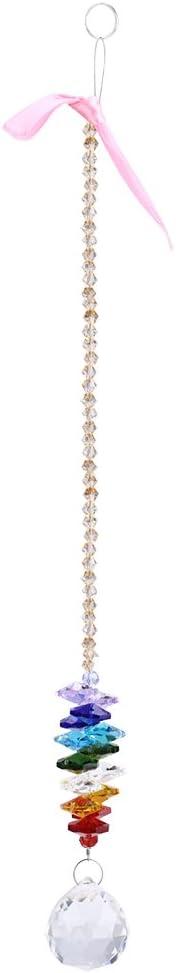 24 cm Lustre Cristaux Balle Prisme Suspendus Pendentif Perles Arc-En-Maker Suncatcher Fen/être Lumi/ère Lampe Gouttes D/écor