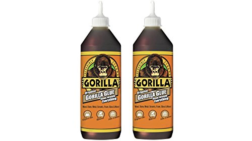 Gorilla 5023601-2 Original Glue (2 Pack), 36 oz, Brown