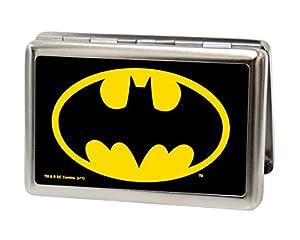 Buckle-Down Metal Wallet - Batman Fcg Black/yellow Accessory at Gotham City Store
