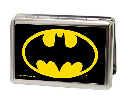 Buckle-Down Metal Wallet - Batman Fcg Black/yellow Accessory at Gotham City Store