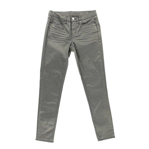 Calvin Bootcut Jeans (Calvin Klein Jeans Women's Ankle Skinny Jean Metallic Pewter, 26)