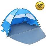 Venustas Beach Tent Beach Umbrella Outdoor Sun Shelter Canopy Cabana UPF 50+ Sun