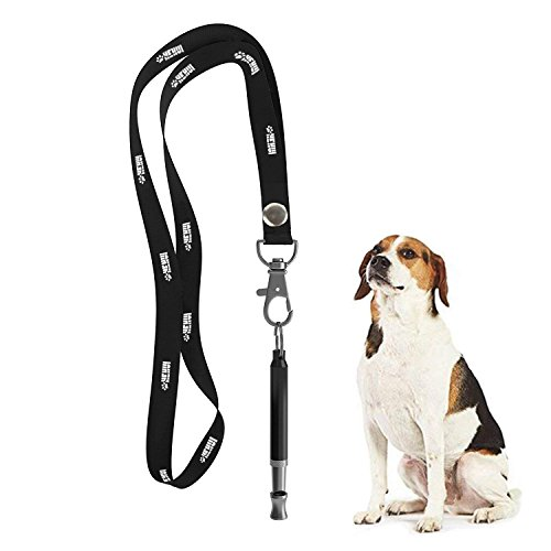 HEHUI Dog Whistle to Stop Barking, Adjustable Pitch Ultrasonic Training Tool Silent Bark Control for Dogs- Pack of 1 PCS Whistles with 1 Free Lanyard Strap
