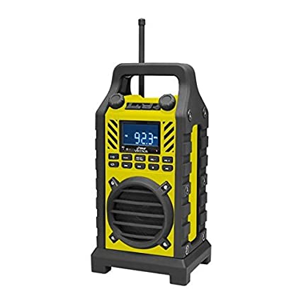 PYLE-HOME PWPBT250YL Rugged-Portable Bluetooth Speaker with FM Radio, USB/SD Readers and Built-in Rechargeable Battery, Yellow Sound Around