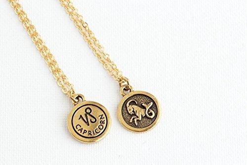 Personalized Zodiac Sign Astrology Necklace - aquarius pisces aries taurus gemini cancer leo virgo libra scorpio sagittarius capricorn