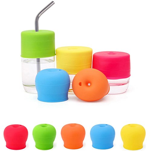 Cup Lid - Iusun Universal Silicone Spill-Proof Sippy Cup Str