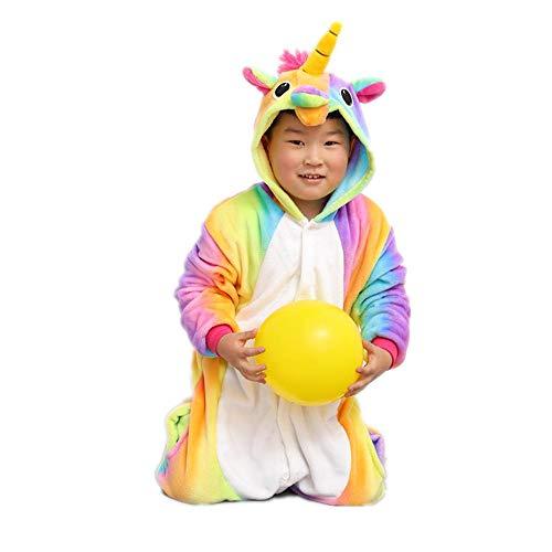 Children's Siamese Pajamas Rainbow Tianma Costumes Cute Pajamas(Yellow 125-for Height (138-146cm) -