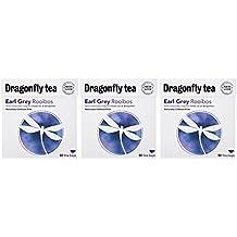 (3 PACK) - Dragonfly Tea - Earl Grey Rooibos Tea | 40 Bag | 3 PACK BUNDLE
