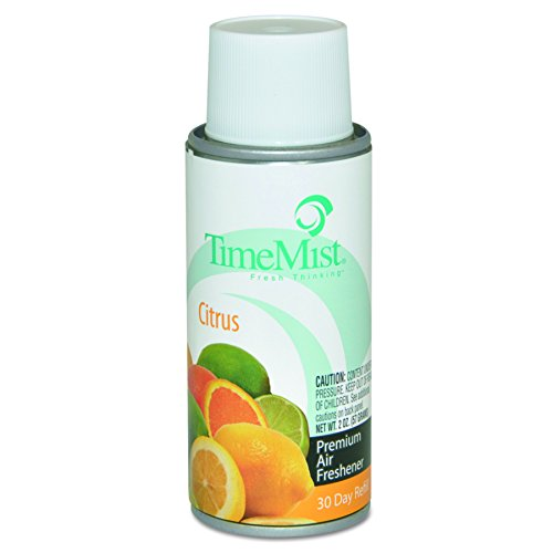 TimeMist 1042447 Settings Micro Metered Aerosol Refills, Citrus, 2oz (Case of 12) by Timemist