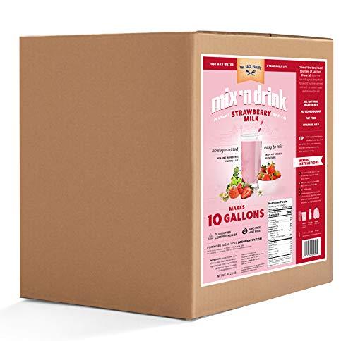 Saco – Mix 'n Drink Instant Strawberry Skim Milk, Low-Fat, 10 Gal