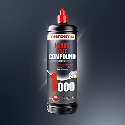 Menzerna Heavy Cut Compound 1000 Pad Use for Scratch Removal On Newly Cured Paint & Older Paints & for Fast Removal of Sanding Marks by Tools Centre