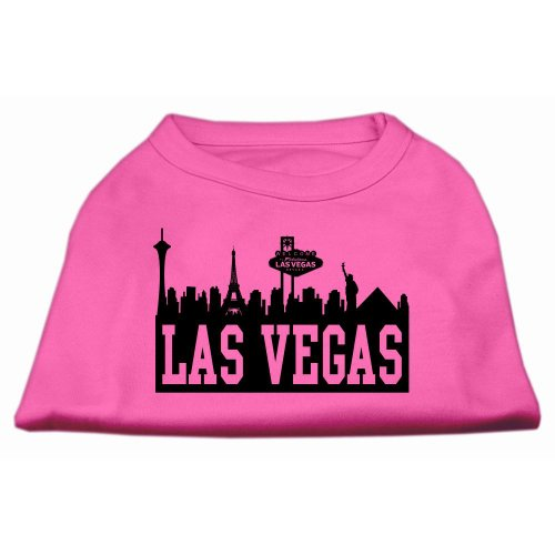 Mirage Pet Products 14-Inch Las Vegas Skyline Screen Print Shirt for Pets, Large, Bright Pink (Costumes Vegas)