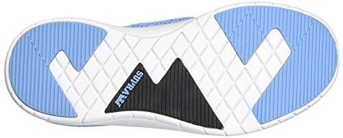 Supra Scissor Round Toe Leder Skateschuh Blau Weiss