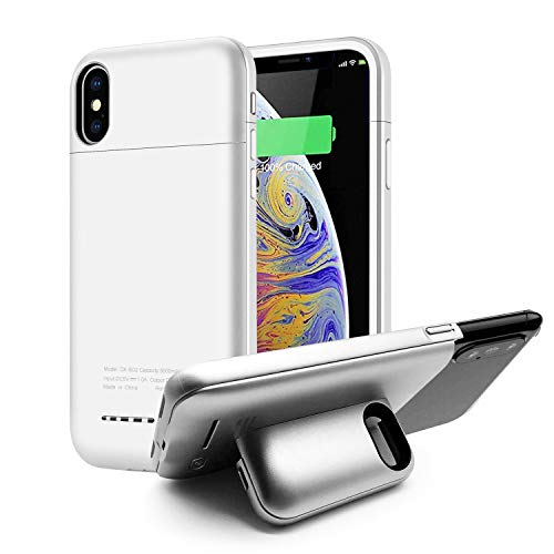 Battery Case for iPhone Xs Max, KZNXCVI 5000mAh Battery Charger Case with Magnetic Stand Design, Slim Extended Battery Charger Case for iPhone Xs Max 6.5