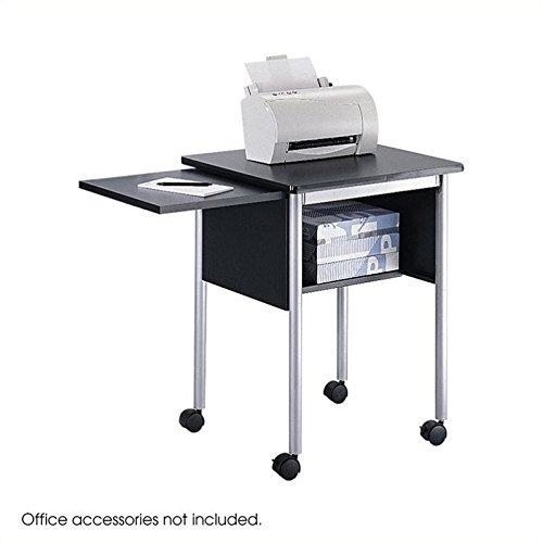 Safco Products 1873BL Machine Stand with Slide-Away Shelf, Black/Metallic (Slide Shelf Laminate)