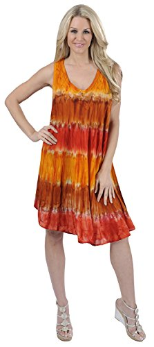 Tie Dye Smocked Dress - 5