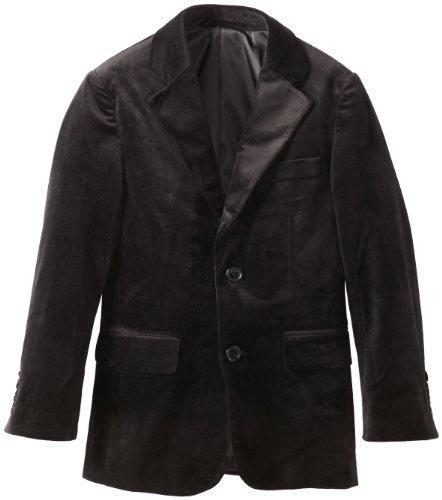 Isaac Mizrahi Big Boys' Solid Velvet Blazer, Black, 14]()