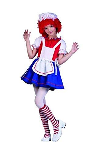 OvedcRay Raggedy Ann Rag Doll Child Costume Clown
