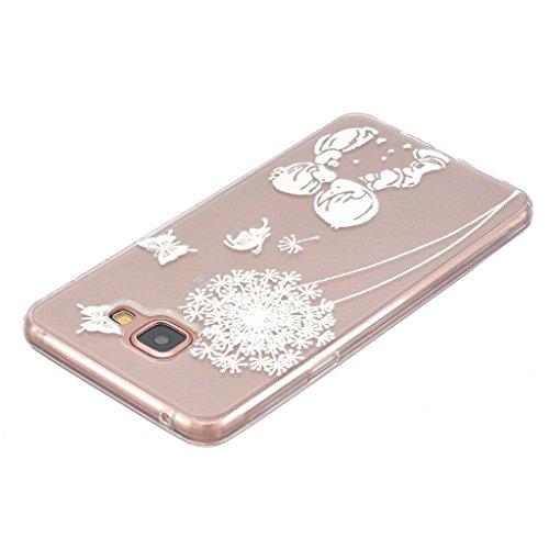 Galaxy A5 2016 Case Cover Carcasa , Dibujos Animados Blanco Diente De León Caso Cubierta Transparente TPU Gel De Silicona Suave Funda Tapa Para Samsung Galaxy A5 2016 SM-A510F + 24K Etiqueta Engomada Diente de león 1