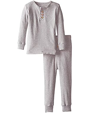 Baby Girls' Pajama Tee And Pant Set (Baby) - Heather Grey