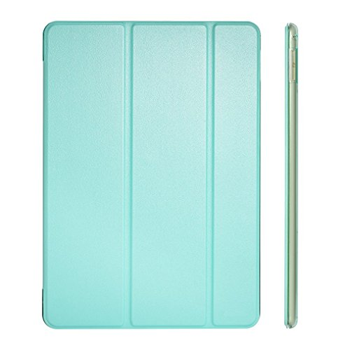 iPad Air 2 Case Cover, Dyasge Smart Case Cover with Magnetic Auto Wake & Sleep Feature and Tri-fold Stand for iPad Air 2 (iPad 6) Tablet,Mint Green