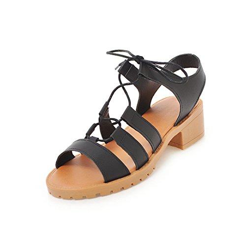 Zapatos de Mujer PU Primavera Verano Zapatos Sandalias Chunky Heel Peep Toe Hebilla para Fiesta Informal Fiesta y Noche D