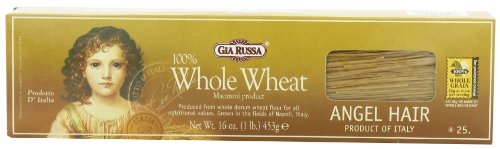 Gia Russa Whole Wheat Angel Hair, 16-Ounces (Pack of 5) -
