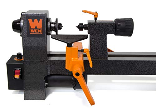"WEN 3421 3.2-Amp 8"" by 12"" Variable Speed Mini Benchtop Wood Lathe"