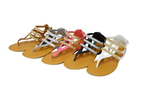 Sandalen Met Gladde, Gladde Sandalen Voor Dames Strapless (gs-sandalen) 6404-bruin
