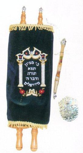 Extra Large Childrens Sefer Torah With Velvet Cover 22