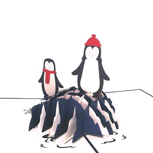 Paper Love Lovepop Pop Up Cards (Penguins, 1 Card)