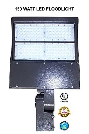 150 watt led shoebox floodlight area light pole head. Black Bedroom Furniture Sets. Home Design Ideas
