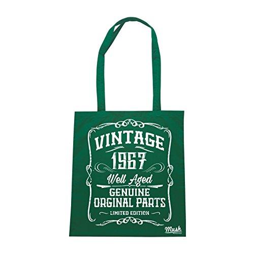 Borsa VINTAGE ETÀ CLASSE 1967 - Verde Bottiglia - MUSH by Mush Dress Your Style