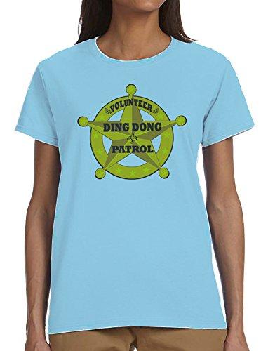 Volunteer Ding Dong Patrol Ladies T-Shirt Blue Large