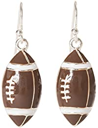 Enamel Football Sport Dangle Earrings