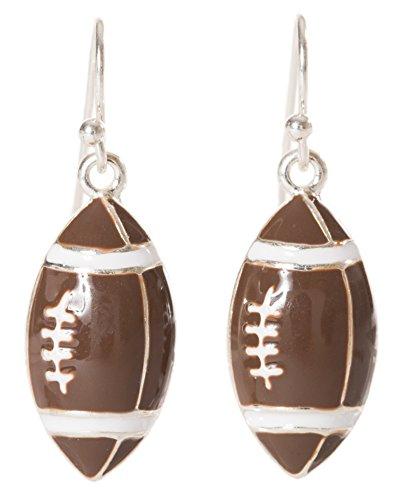 Artisan Owl - Enamel Football Sport Dangle Earrings